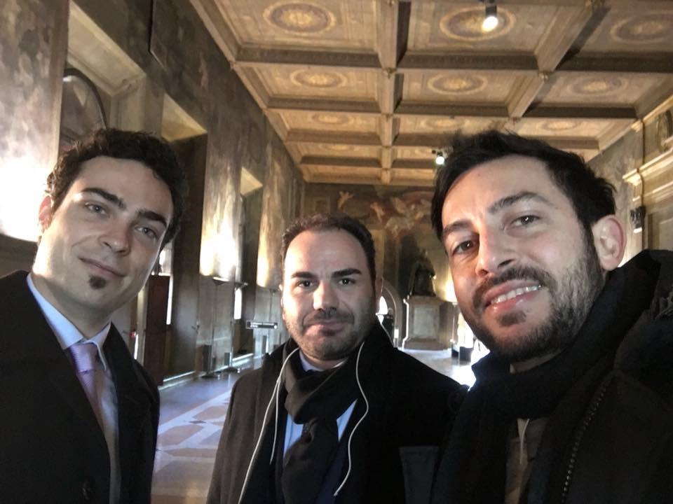 Il team: Luca Ciaffoni, Francesco Ceravolo e Umberto Marini